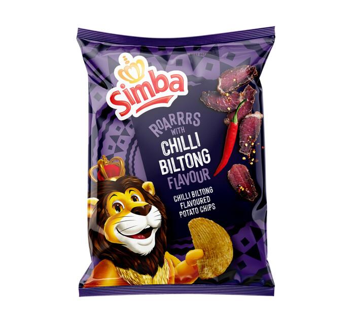 Simba Potato Chips Chilli Biltong (48 x 36 g)