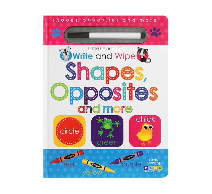 Write and Wipe Shapes, Opposites and More
