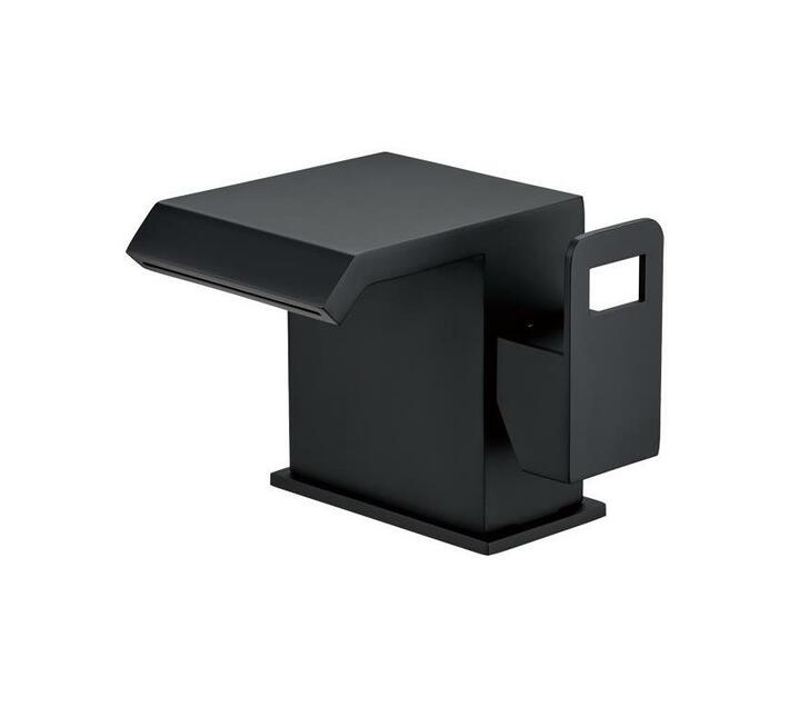 CHROMECATER Basin/Bath Mixer Wide Short Square Spout Matt Black