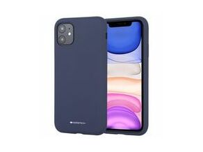 Goospery Silicone TPU Cover for iPhone 11 (Navy Blue)