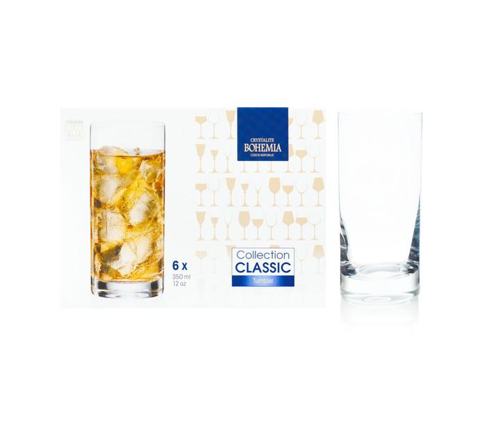 Bohemia Crystalite 350 ml Larus Hiball Glasses 6-Pack