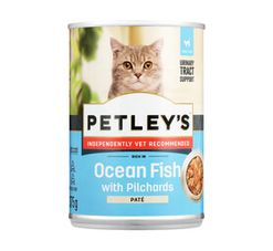 Petley's Adult Cat Food Coarse Pate Rich In Pilchards (12 x 375g)