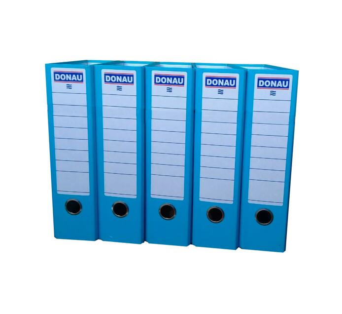 Donau A4 Lever Arch File Board Blue 10 Pack