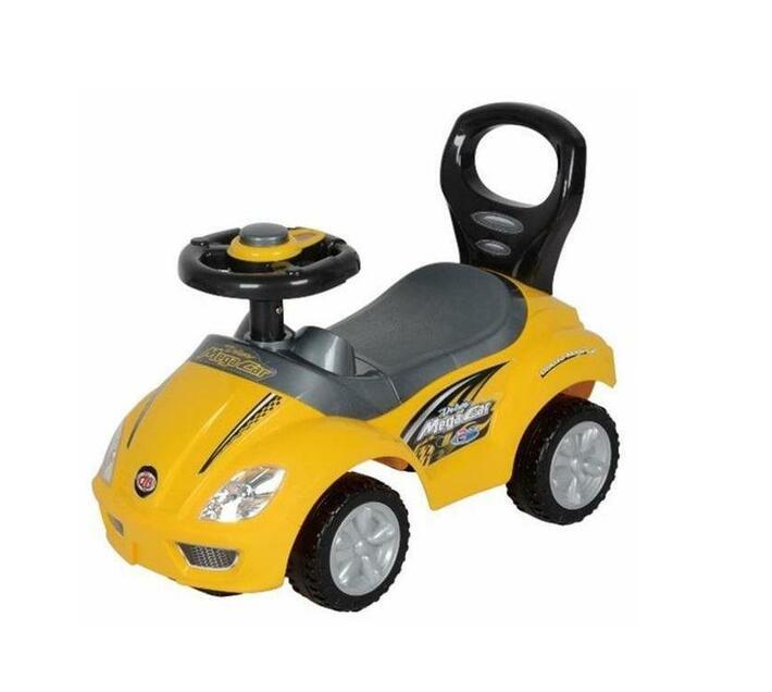 Ride-On Mega Car Deluxe Racer - Yellow & Black