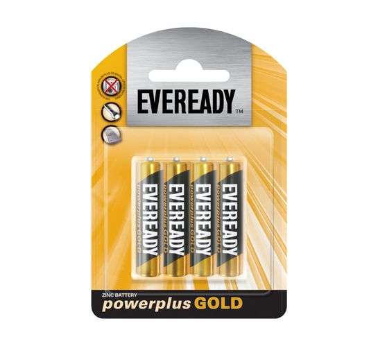 Eveready Power Plus Gold AAA 4-Pack
