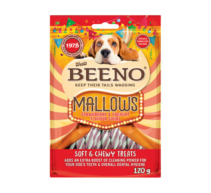 Beeno Moist Treats Rollies Strawberry & Yoghurt (1 x 120g)
