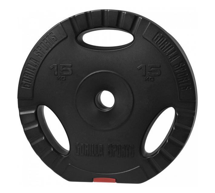GORILLA SPORTS SA - Vinyl tri grip weight plate 15kg