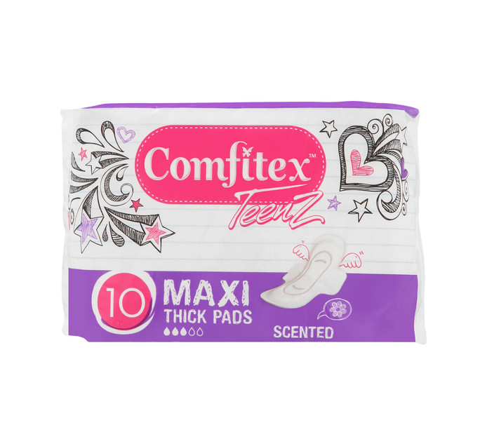 Comfitex Teenz Cotton Maxi Pads Scented (12 x 10's)