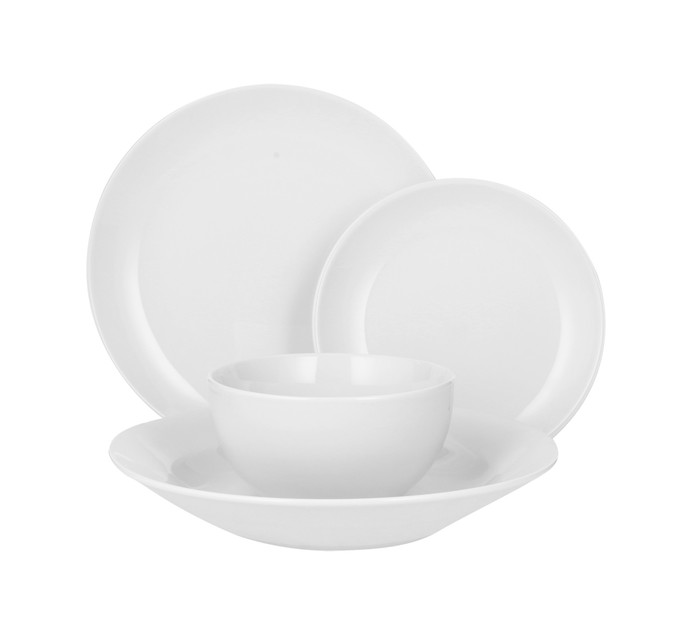 ARO 25 cm Coupe Dinner Plates 4-Pack