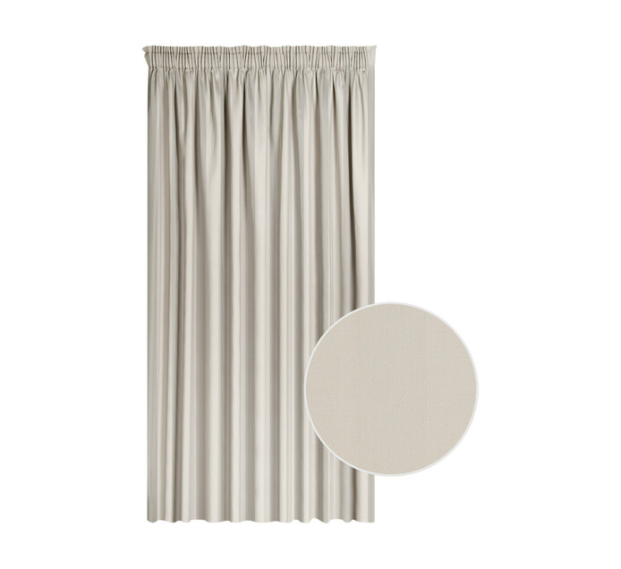 Cq Classic Collection 230 x 218 cm Cassidy Taped Curtain Taupe