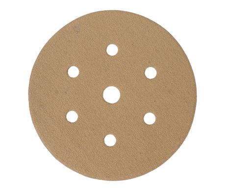 GOLD VELCRO DISC (50 PIECES) 100 GRIT 150MM X 6+1 HOLES