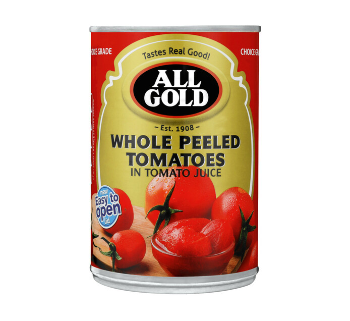 All Gold Peeled Tomatoes Whole (12 x 410g)