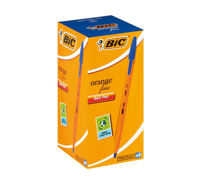 BIC Orange Ballpoint Pen Blue 60-Pack Blue