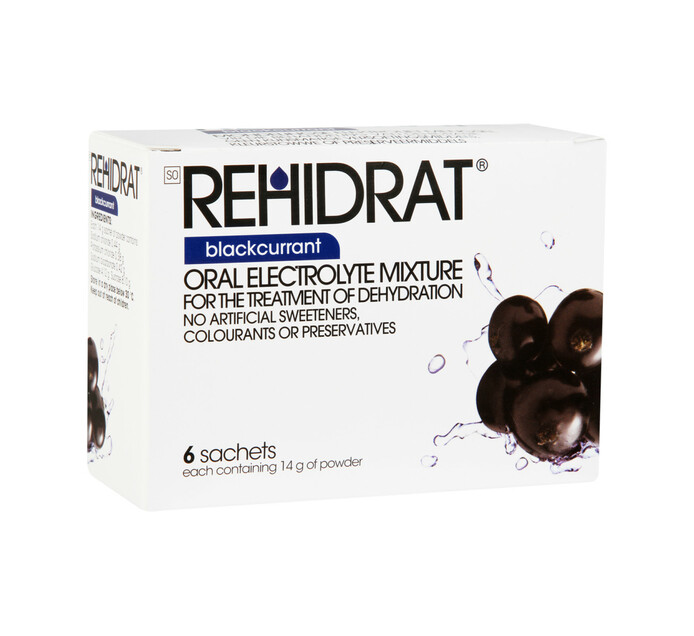 Rehidrat Hydration Powder Blackcurrant (1 x 6's)