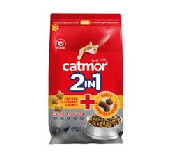Catmor 2in1 Dry Cat Food Chicken Chunks+Beefy Bite (1x1.5kg)