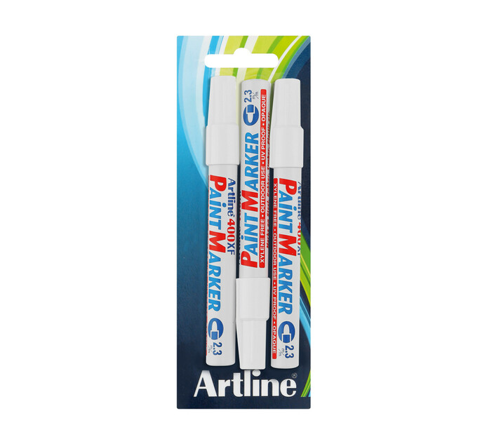 Artline EK400 Paint Marker White 3 Pack White