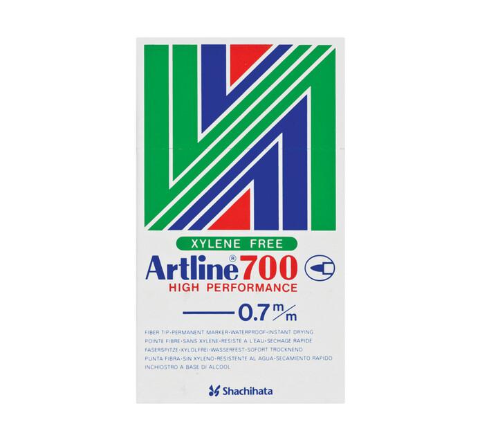 Artline EK700 Permanenet Markers Black 12-Pack Black