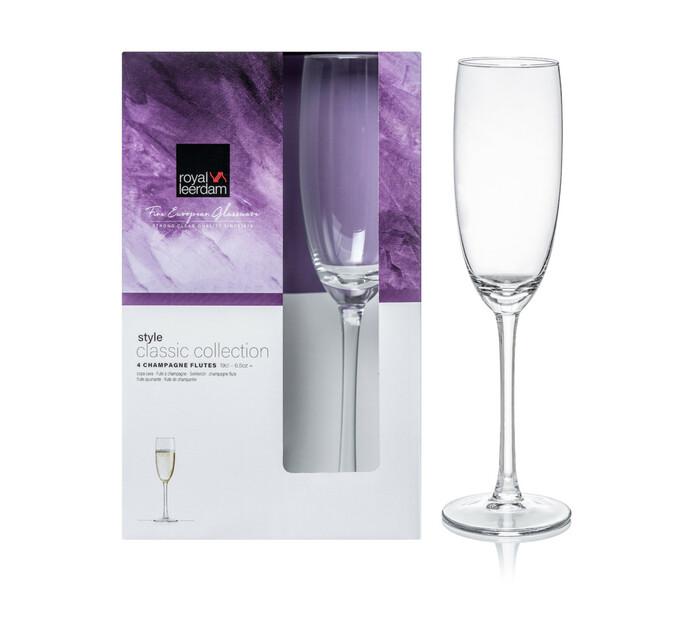 Royal Leerdam 190 ml Style Flute Glasses 4-Pack