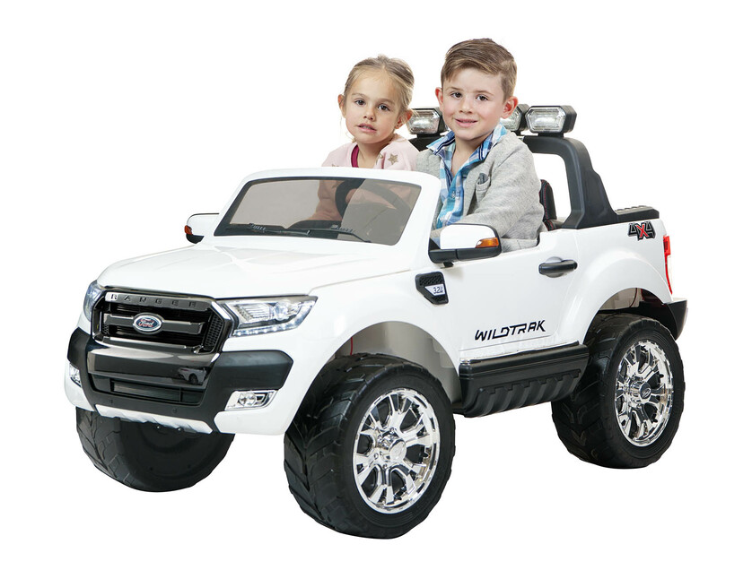 24V Ford Ranger F650 (White) ride on car, 4 Wheel drive and Rubber tyres