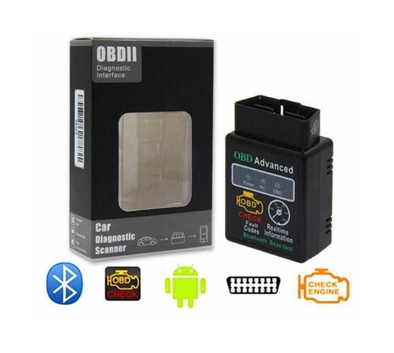 ELM327 12V Car OBD 2 CAN BUS Diagnostic Scanner Tool with Bluetooth Function