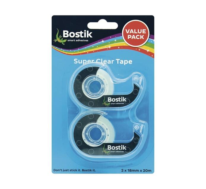 Bostik Super Clear Tape/Dispenser 2-Pack