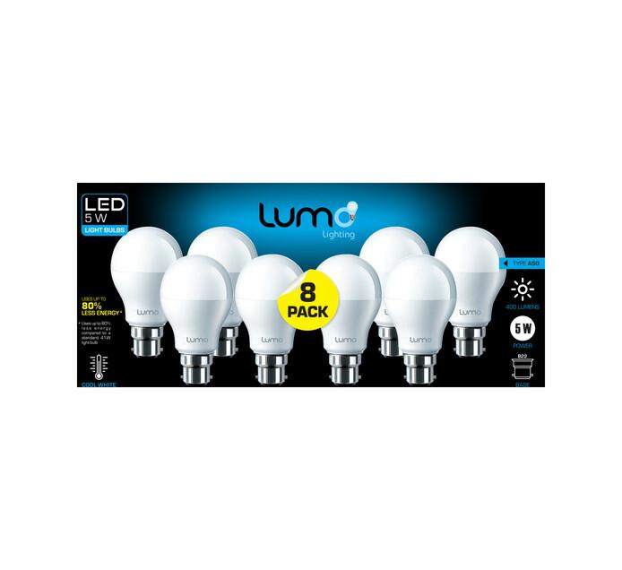 Lumo 8 pack 5W LED A60 BC CW