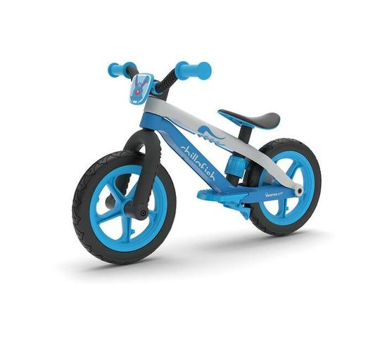 Balance Bike Chillafish Bmxie² 12'' Lightweight trainer with Footbrake for Kids Ages 2 -5,Airless RubberSkin Tires, Adjustable Seat Without Tools ,Real BMX/MTB designed bicycle frame, BLUE