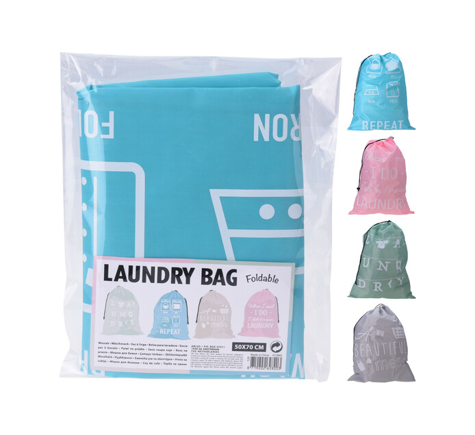 Excellent Houseware 50 x 70 cm Laundry Bag Polyester