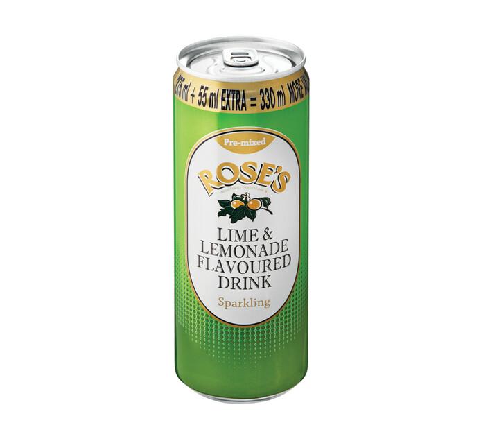 ROSES SPARKLING CANS 330ML,LIME&LEMONADE