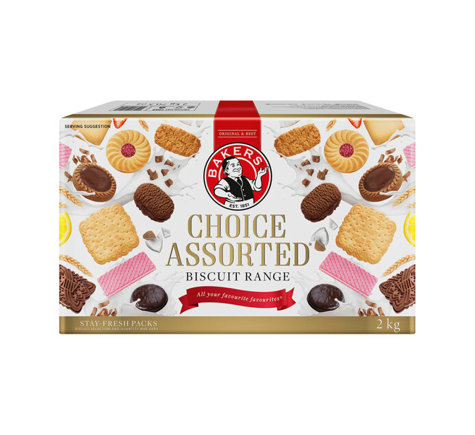 Bakers Biscuits Choice Assorted (1 x 2kg)