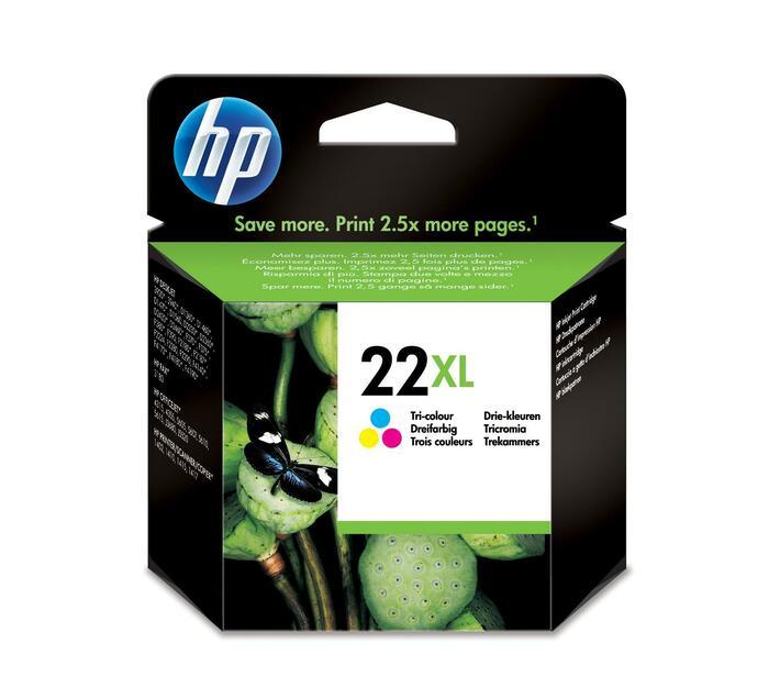 HP 22XL High Yield colour (cyan, magenta, yellow) original ink cartridge