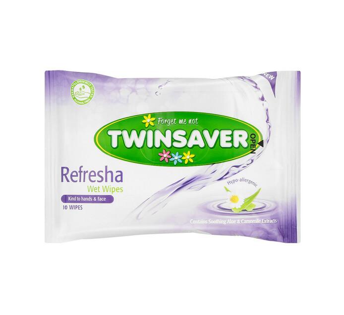 Twinsaver Hygiene Wipes Refresha (16 x 10's)