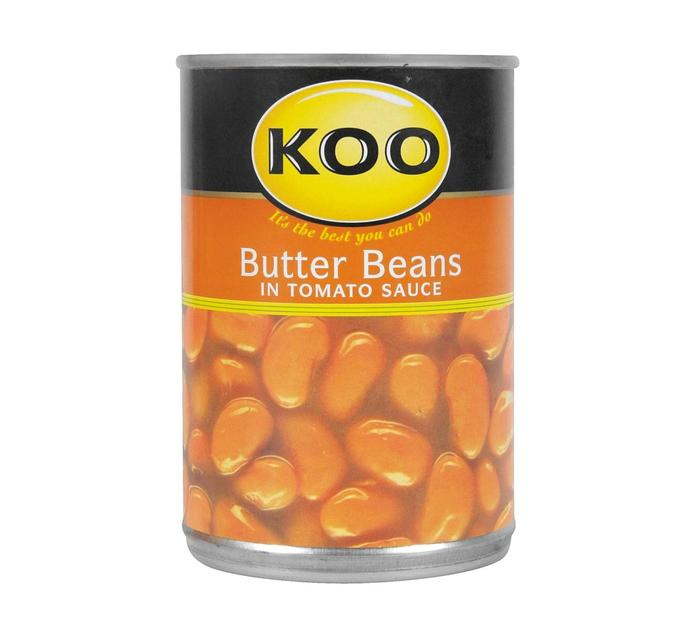 KOO Butter Beans in Tomato Sauce (12  x 420g)