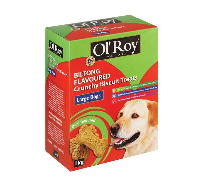 Ol'roy Dog Biscuits Biltong Large (1 x 1kg)