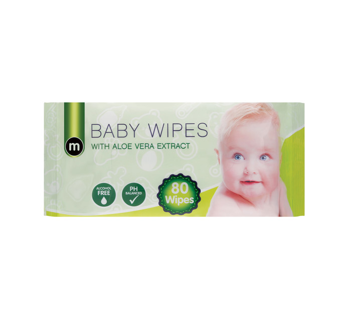 M Brand Baby Wipes (1 x 80's)