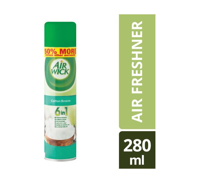 Airwick Air Freshner Cotton Breeze (6 x 280ml)