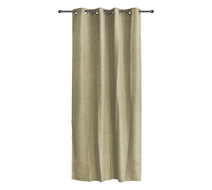 easyhome Trieste Solid Beige eyelet curtain 140 x 250cm