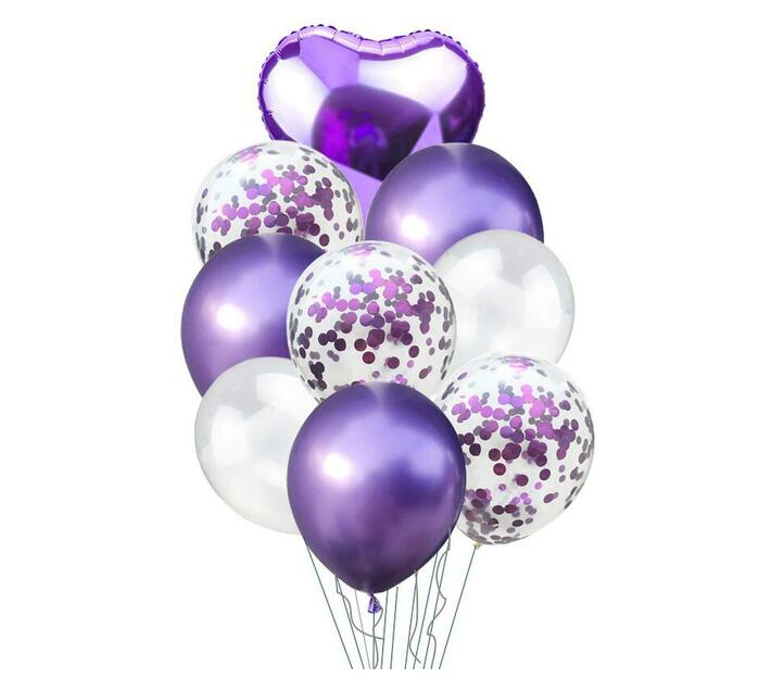BubbleBean - Purple Bunched Balloon 9pc