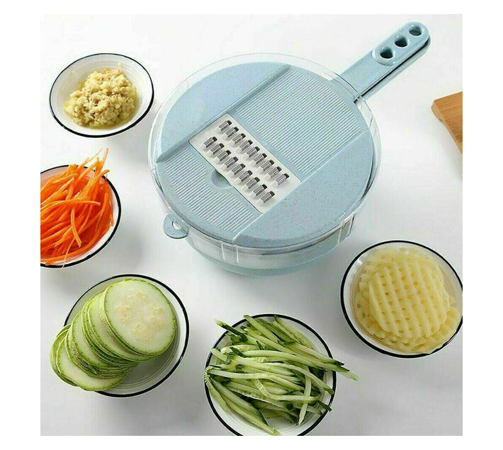 9 in 1 Vegetable and Fruits Cutter - Pink