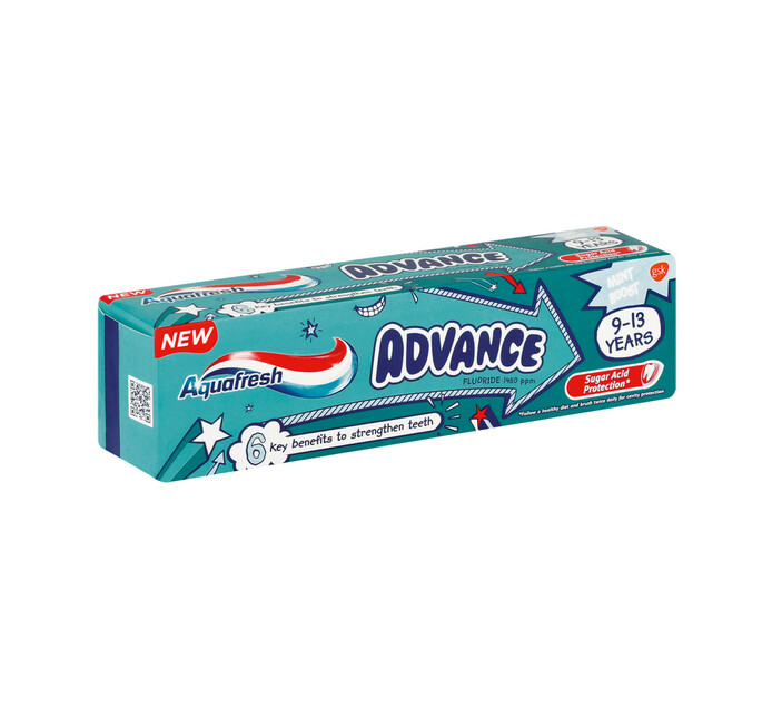 Aquafresh Tooth Paste Advanced 9-12yrs 9-12yrs (1 x 75ml)