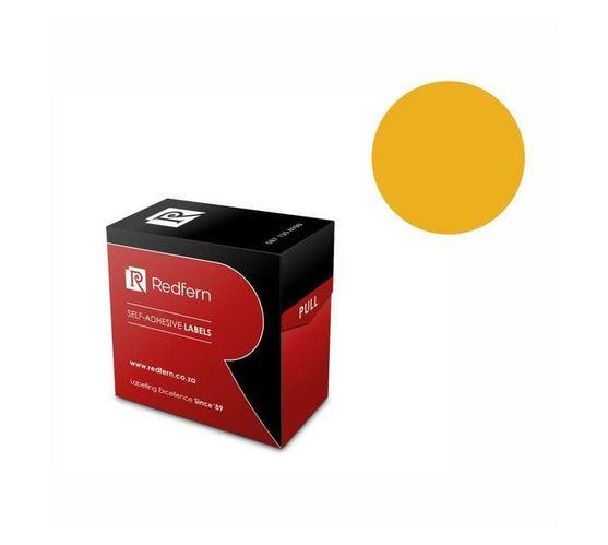 Redfern Self-Adhesive Colour Codes - C25 Flu Orange
