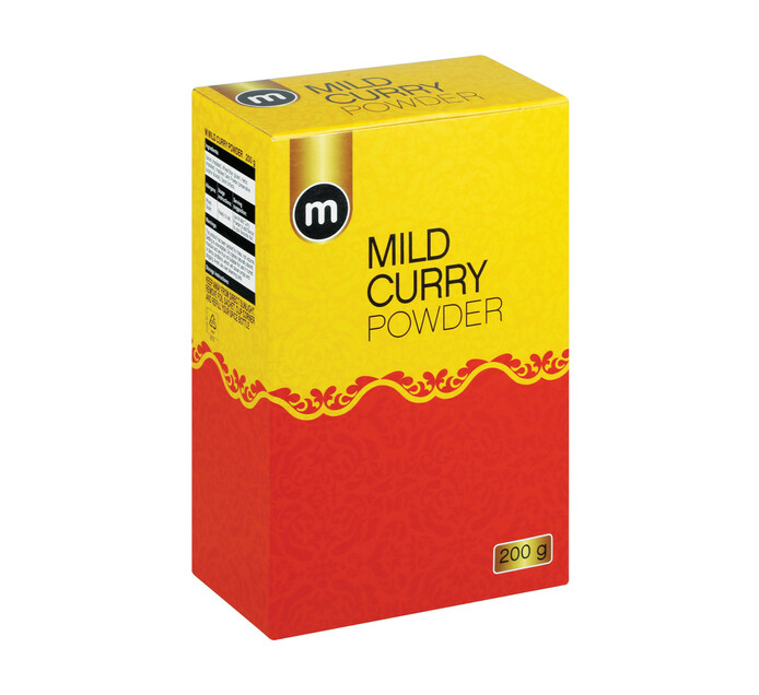 M Brand Curry Powder Mild (1 x 200g)