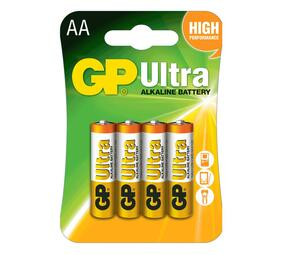 GP Ultra Alkaline AA Card of 4