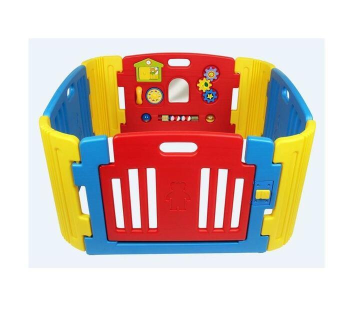 Teddy Love Baby Playpen Playground - Red & Blue