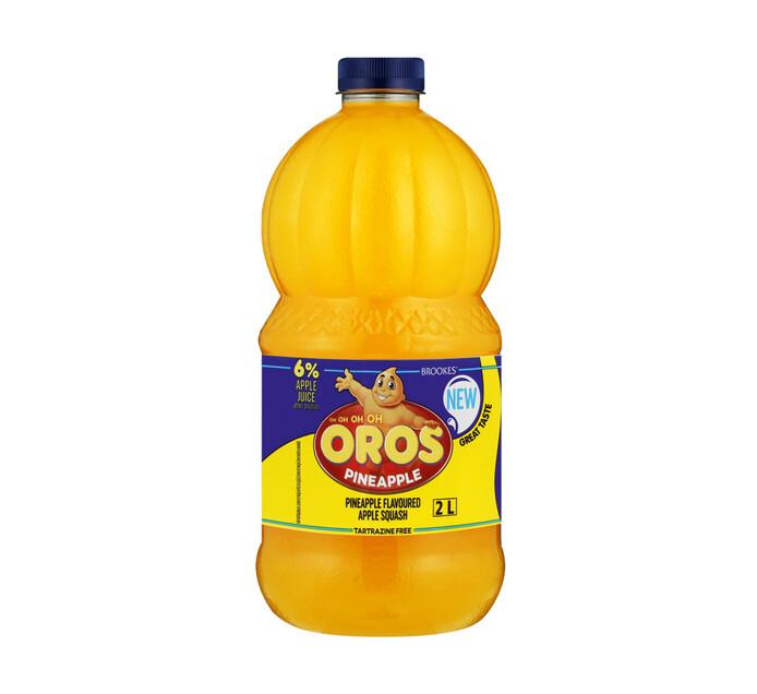 Brookes Oros Squash Pineapple (6 x 2l)