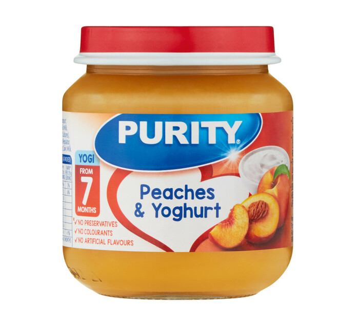 Purity 2nd Foods Peach and Yoghurt (6 x 125ML)