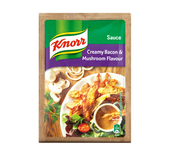 Knorr Packet Sauce Creamy Bacon and Mushroom (10 x 38g)