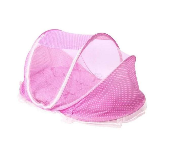 Lubanzi Foldable Baby Mosquito Tent Travel Instant Bed (Pink)