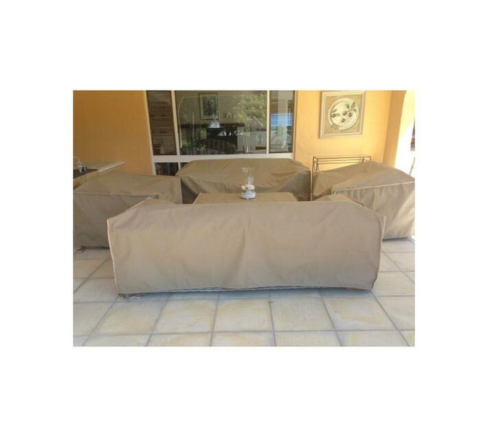 Patio Solution Covers Couch Cover Small - Beige Ripstop UV 260grm