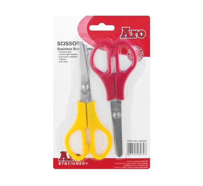 ARO Scissors 5' 132 mm 2-Pack